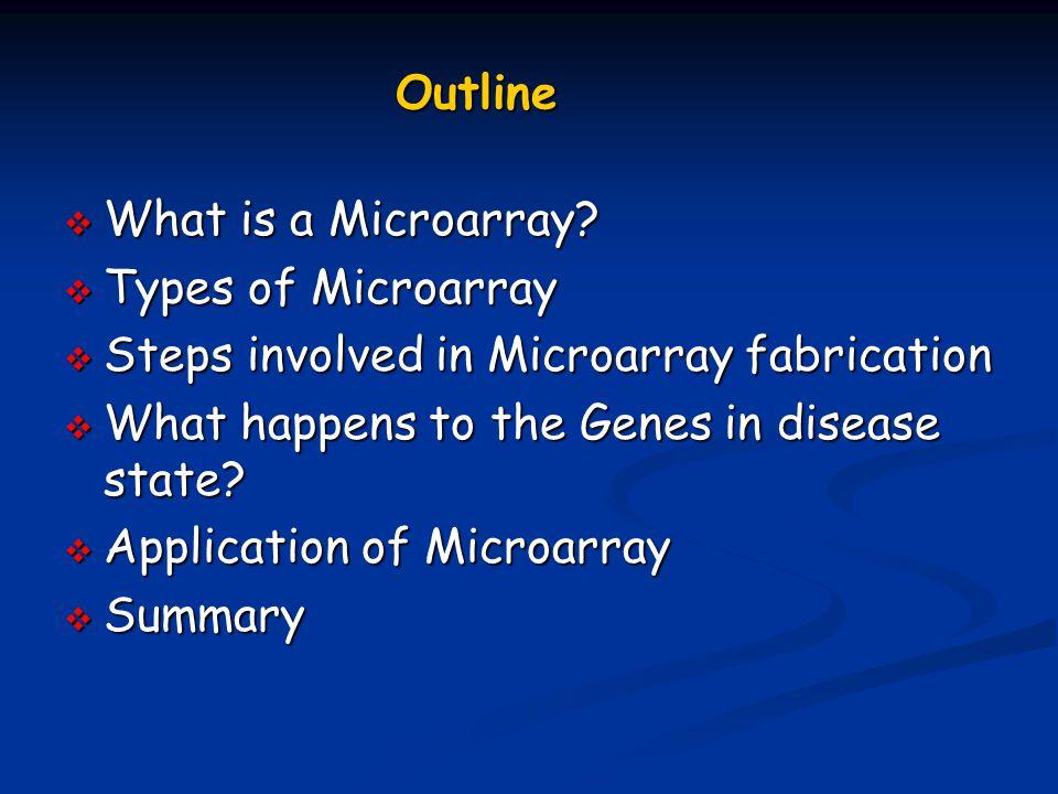 Why Microarrays????.