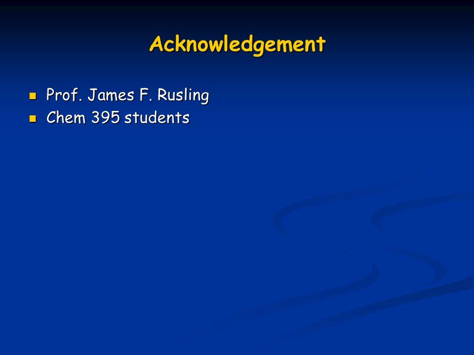 Acknowledgement Prof. James F. Rusling Prof. James F. Rusling Chem 395 students Chem 395 students