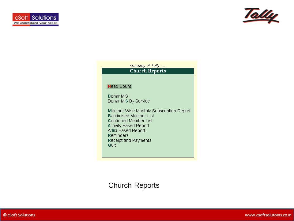 Church Reports