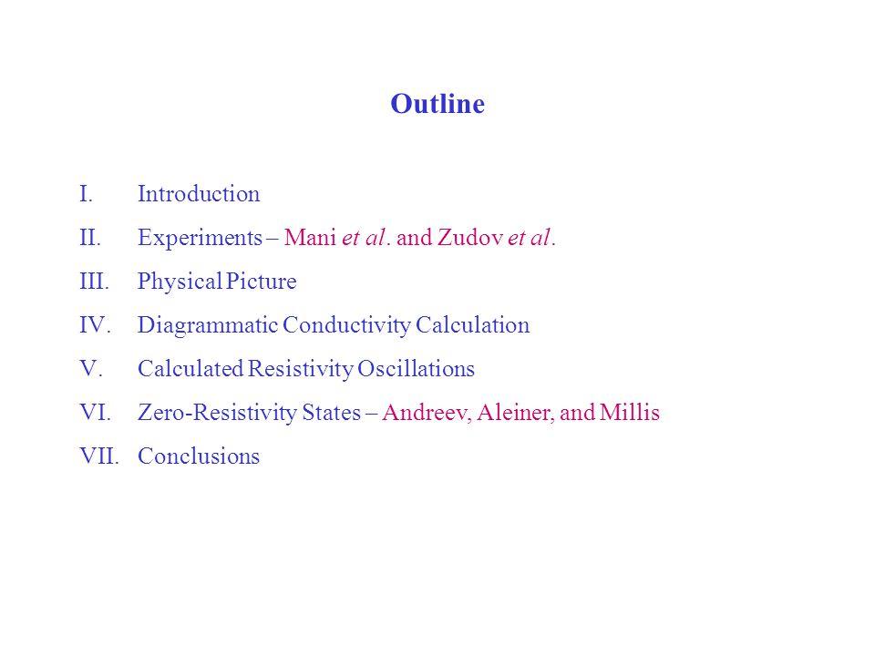 Outline I.Introduction II.Experiments – Mani et al.