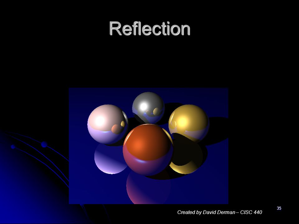 35 Reflection Created by David Derman – CISC 440