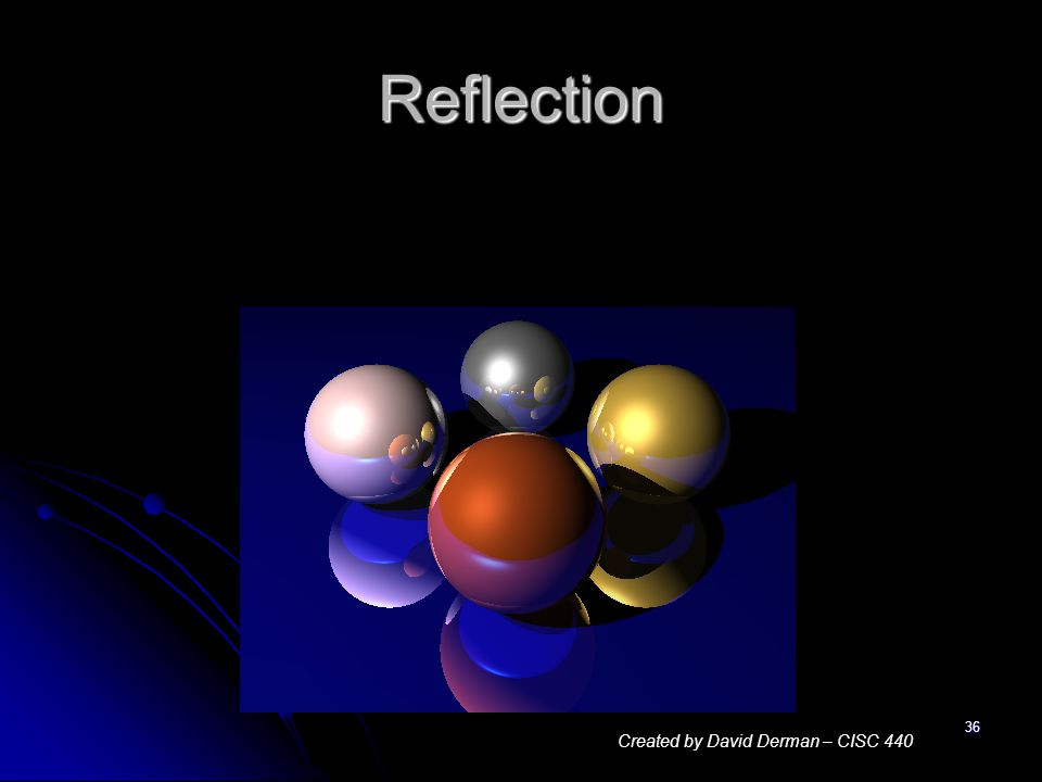 36 Reflection Created by David Derman – CISC 440