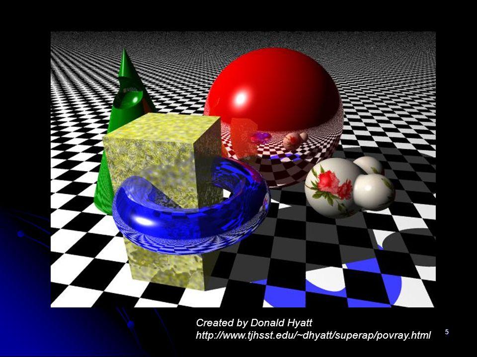 5 Created by Donald Hyatt http://www.tjhsst.edu/~dhyatt/superap/povray.html