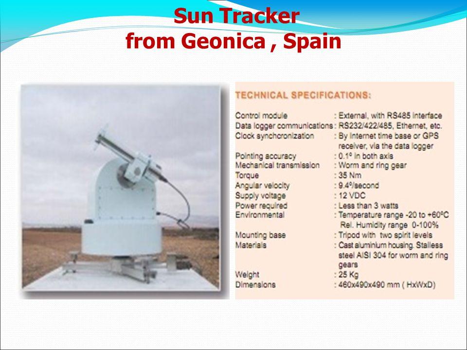 Sun Tracker from Geonica, Spain