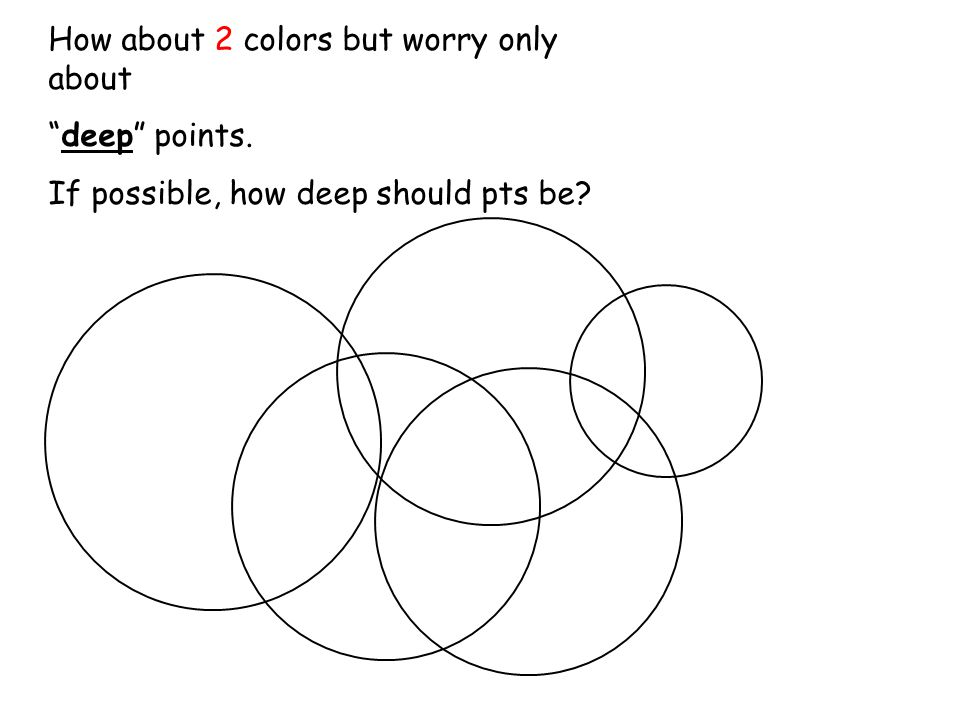 How about 2 colors but worry only about deep points. If possible, how deep should pts be?