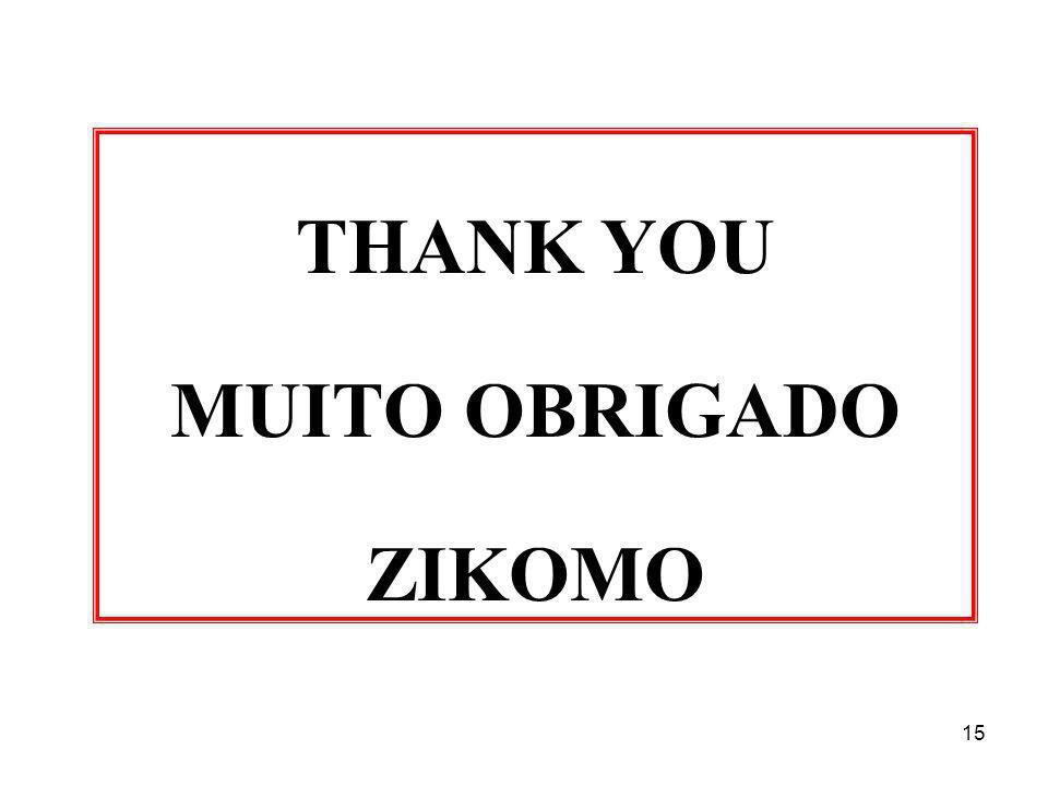 15 THANK YOU MUITO OBRIGADO ZIKOMO