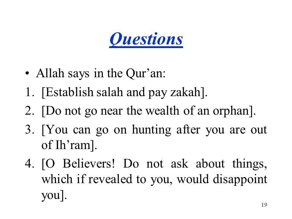 Questions 5.