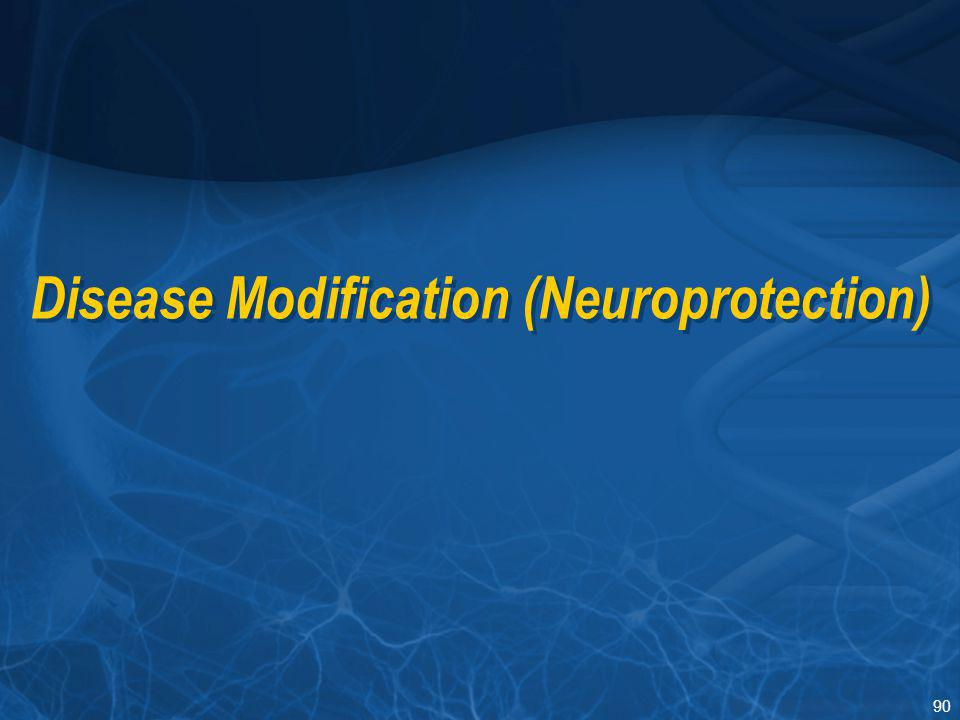 90 Disease Modification (Neuroprotection)