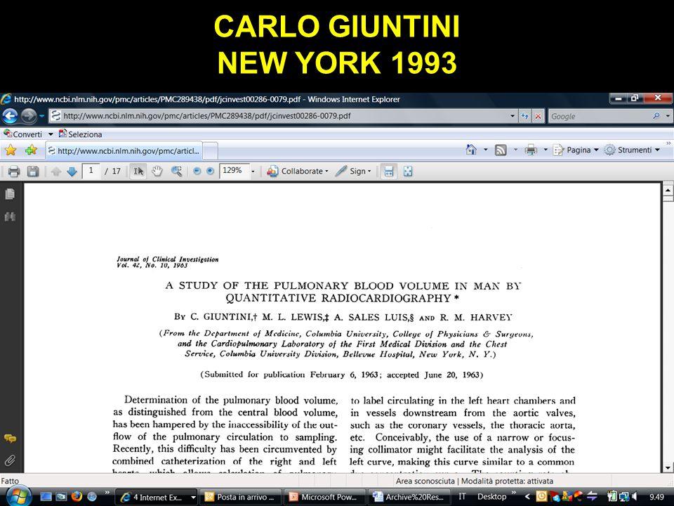CARLO GIUNTINI NEW YORK 1993 Obaji A, Sethi S. Drugs and Aging 2001;18:1-11.