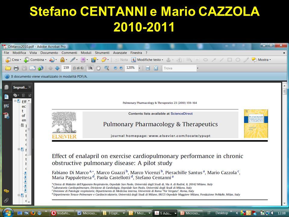 Stefano CENTANNI e Mario CAZZOLA 2010-2011 Obaji A, Sethi S. Drugs and Aging 2001;18:1-11.
