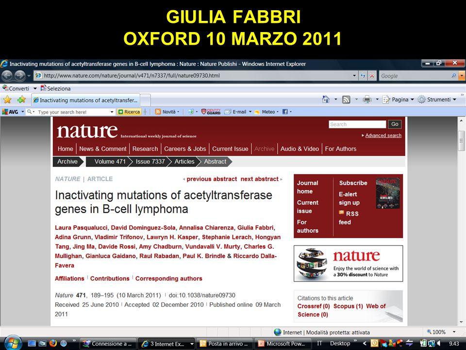 GIULIA FABBRI OXFORD 10 MARZO 2011 Obaji A, Sethi S.