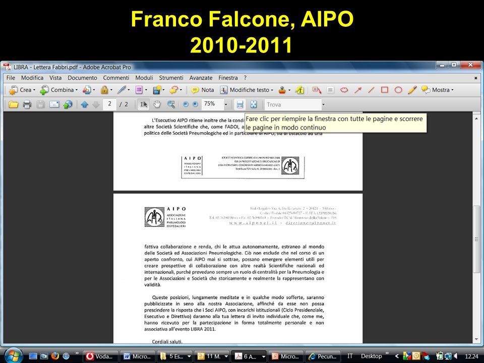 Franco Falcone, AIPO 2010-2011 Obaji A, Sethi S. Drugs and Aging 2001;18:1-11.