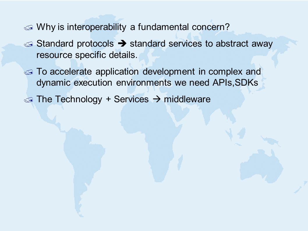 / Why is interoperability a fundamental concern.