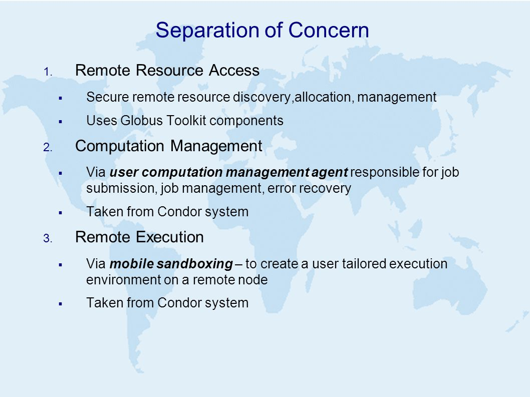 Separation of Concern 1.