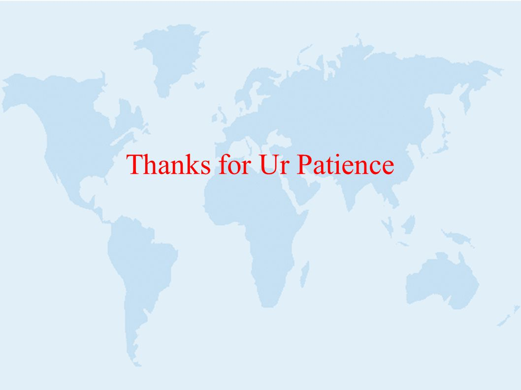 Thanks for Ur Patience