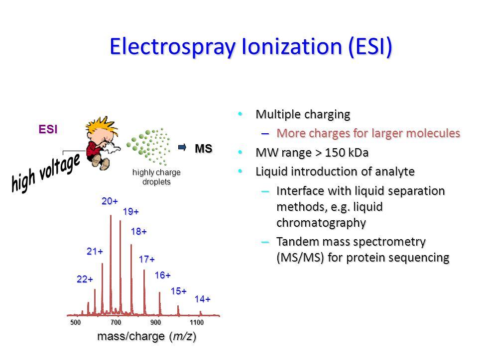 Origin of the ES Spectra of Peptides H H H H 4+4+ H H H 3+3+ H 2+2+ H 1+1+ H m/z = (M r +4H)/4 m/z = (M r +3H)/3 m/z = (M r +2H)/2 m/z = (M r +H) 1+1+ 2+2+ 3+3+ 4+4+ Rel.