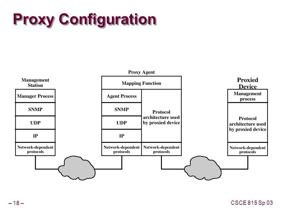 – 18 – CSCE 815 Sp 03 Proxy Configuration