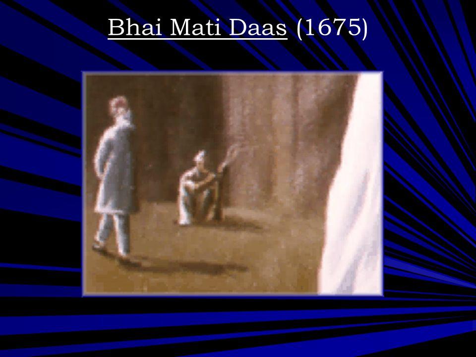 Bhai Mati Daas (1675)