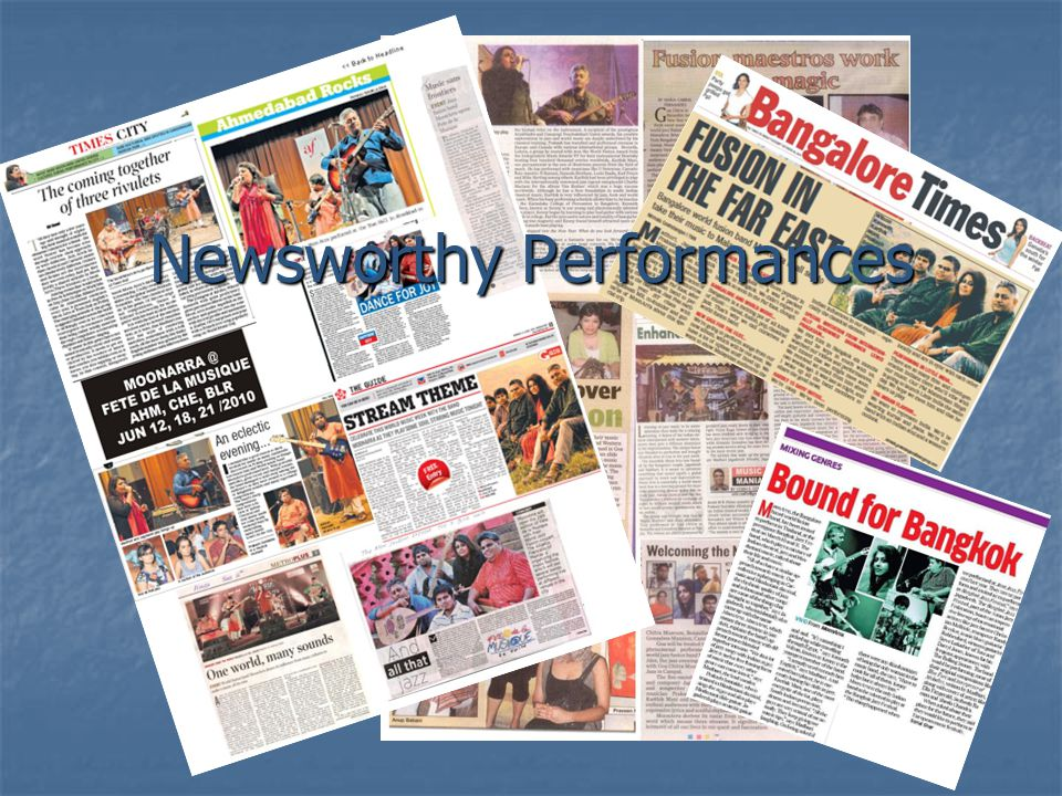 Newsworthy Performances