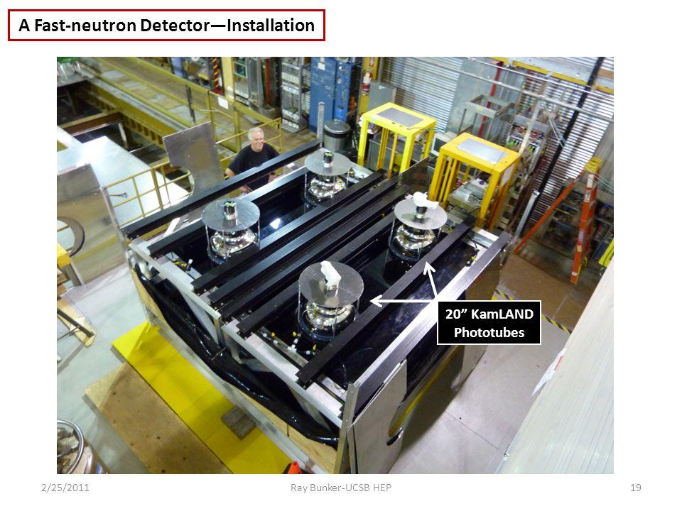 2/25/2011Ray Bunker-UCSB HEP19 20 KamLAND Phototubes A Fast-neutron Detector—Installation