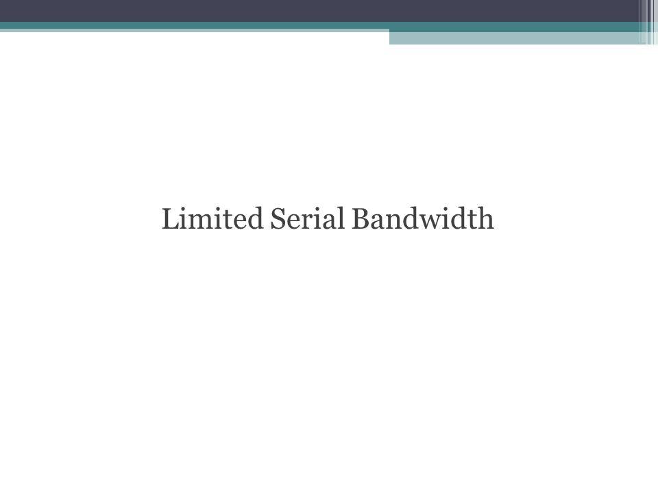 Limited Serial Bandwidth