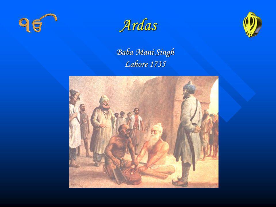 Ardas Baba Mani Singh Lahore 1735