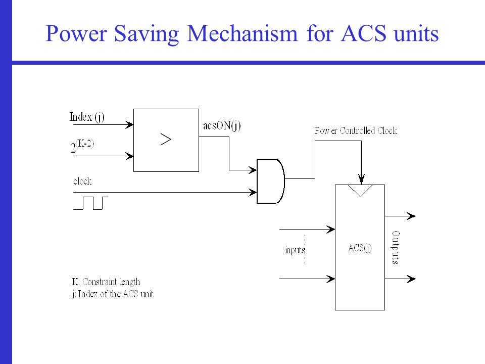 Power Saving Mechanism for ACS units