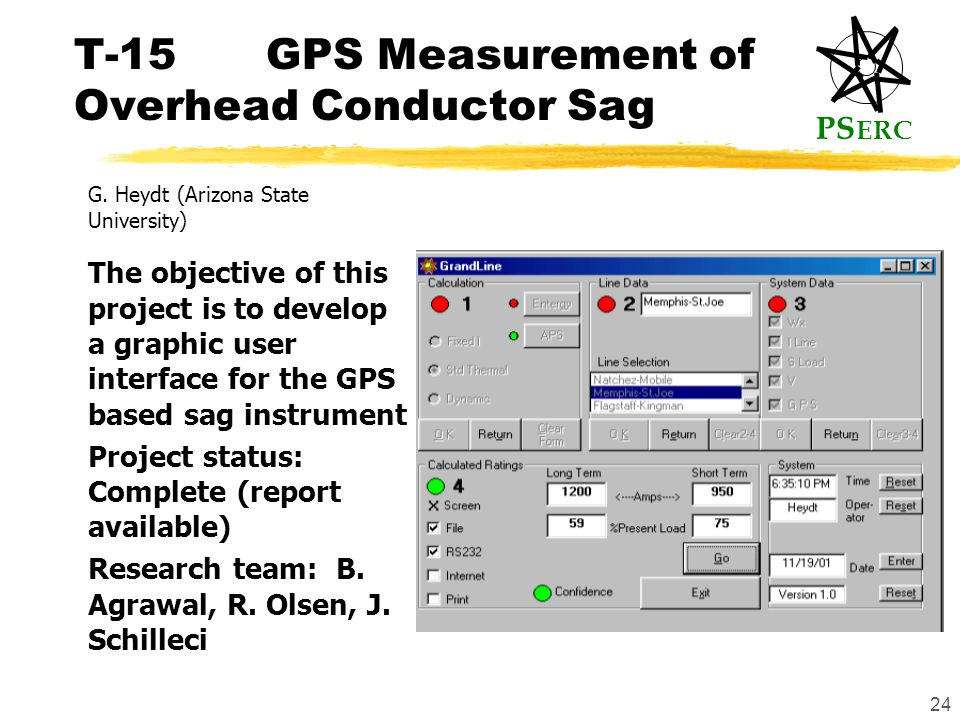 PS ERC 24 T-15GPS Measurement of Overhead Conductor Sag G.