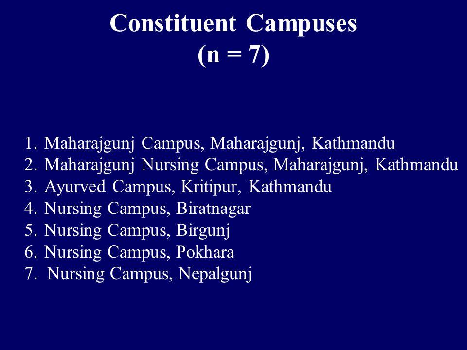 Constituent Campuses (n = 7) 1. Maharajgunj Campus, Maharajgunj, Kathmandu 2.