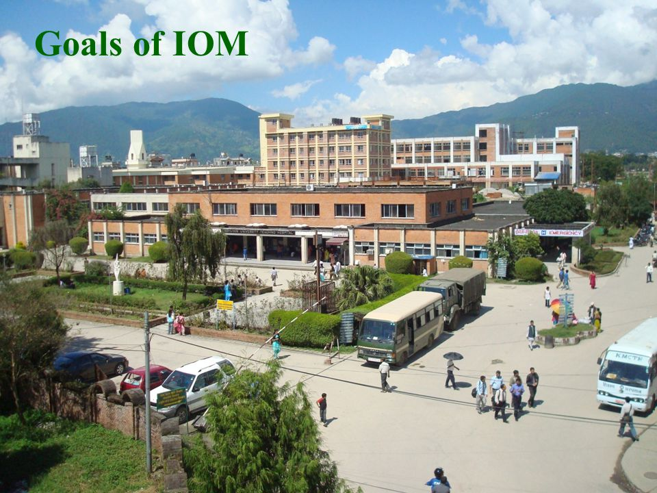 Goals of IOM