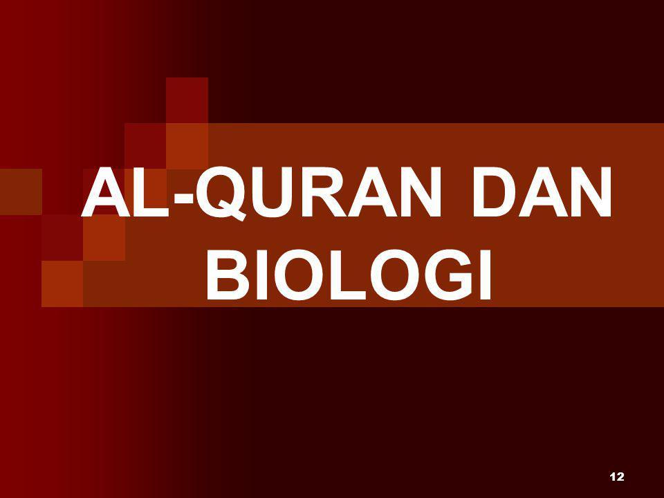 12 AL-QURAN DAN BIOLOGI