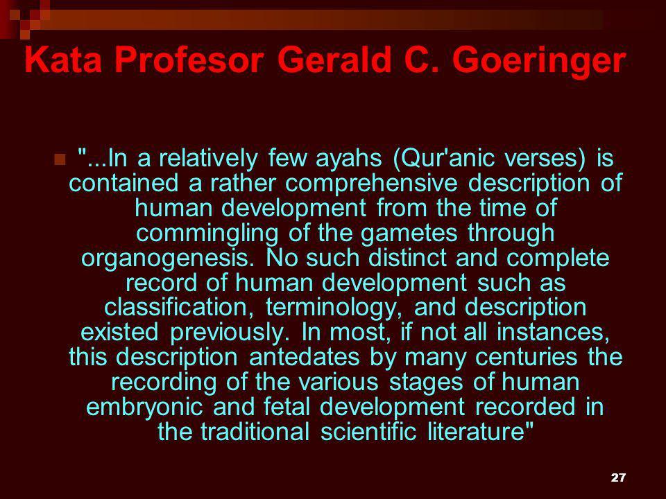 27 Kata Profesor Gerald C.