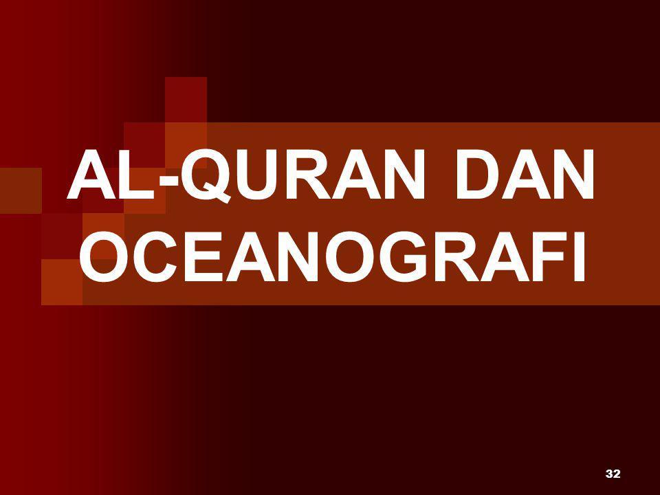 32 AL-QURAN DAN OCEANOGRAFI