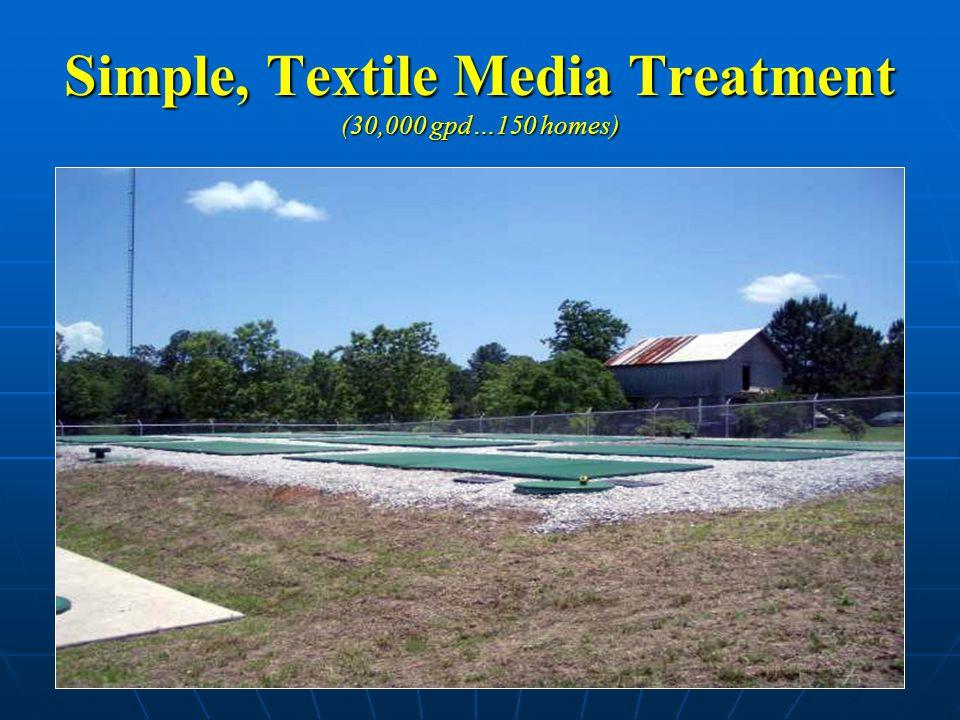 Simple, Textile Media Treatment (30,000 gpd…150 homes)
