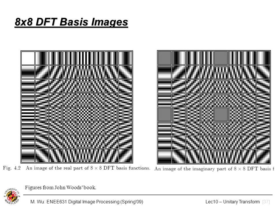M. Wu: ENEE631 Digital Image Processing (Spring'09) Lec10 – Unitary Transform [37] 8x8 DFT Basis Images Figures from John Woods' book.