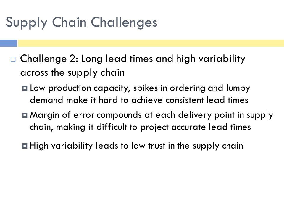  Challenge 3: Mismatch between ordering amount and actual need  Amounts ordered inconsistent with number of children served  Scarcity of supply, uncertainty in targeted arrival dates and limited fund flow make it hard for COs to rely on the supply chain  May lead to orders being inflated.