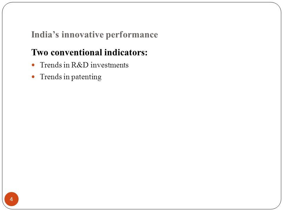 5 Trends in India's overall investments in R&D, 1980-81 through 2007-08 (Current and Constant values are in Rs Crores; Constant values are in 1999-2000 prices); Source of data: Department of Science and Technology (2006 and 2008)