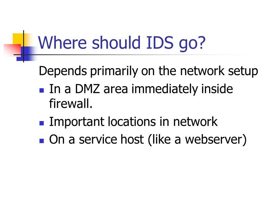 Where should IDS go.
