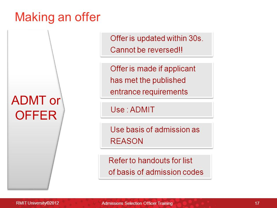 RMIT University©2012 17 Offer is updated within 30s.