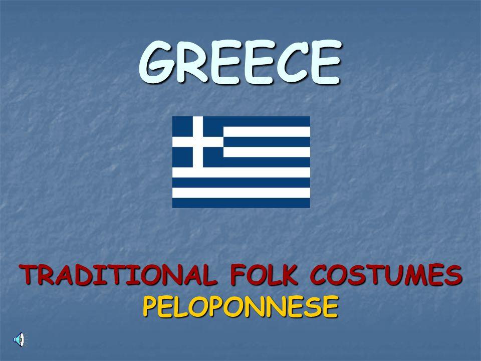 GREECE TRADITIONAL FOLK COSTUMES PELOPONNESE