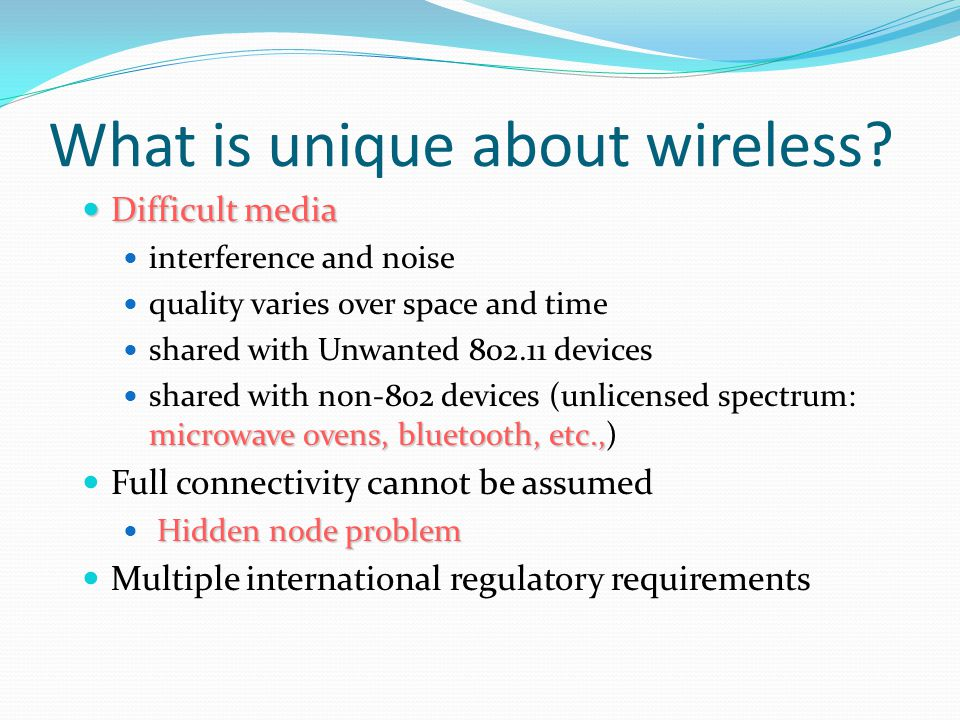 Difference Between Wired and Wireless If both A and C sense the channel to be idle at the same time, they send at the same time.