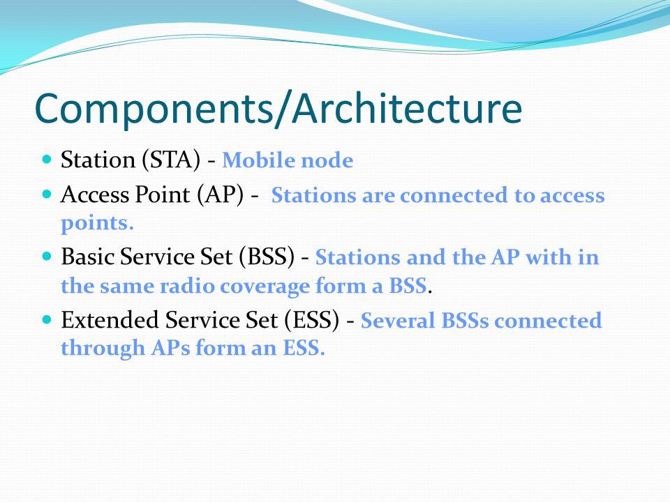 infrastructure network ad-hoc network AP wired network AP: Access Point Source: Schiller