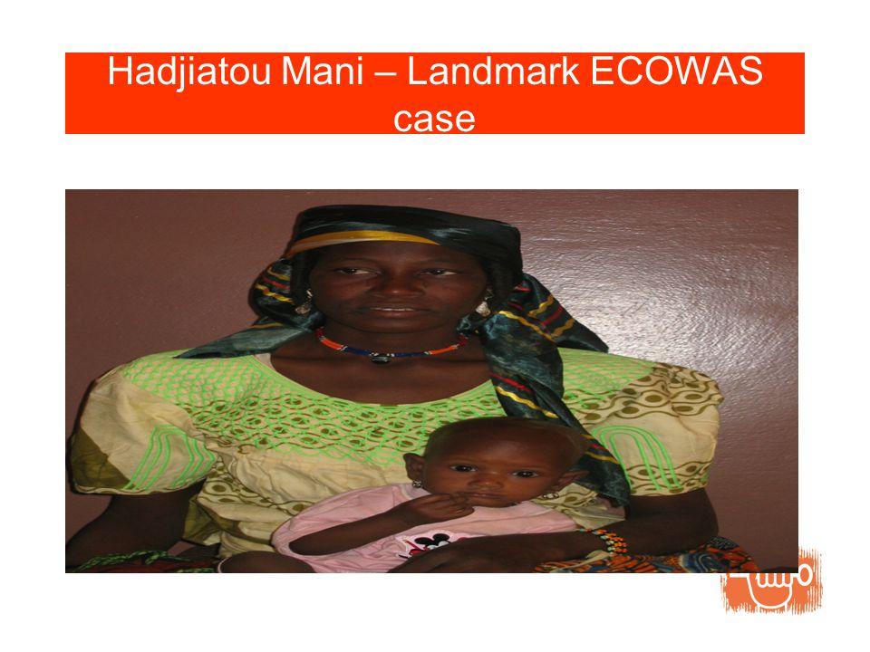 Hadjiatou Mani – Landmark ECOWAS case