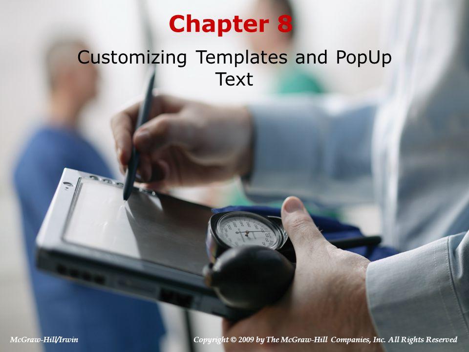 3. Customizing PopUp Text 8-12