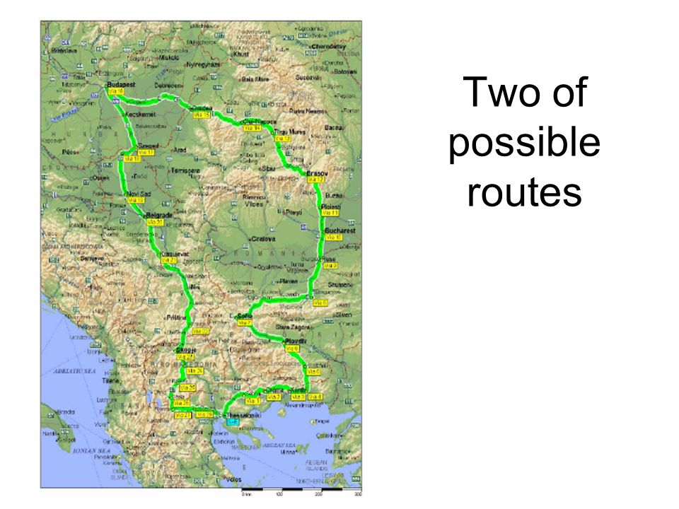 Two of possible routes