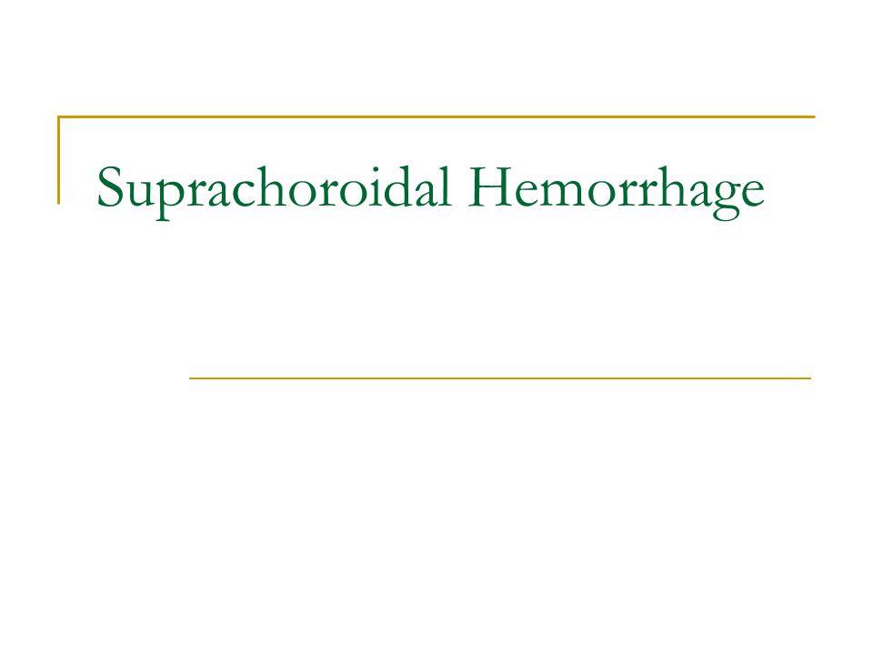 Suprachoroidal Hemorrhage