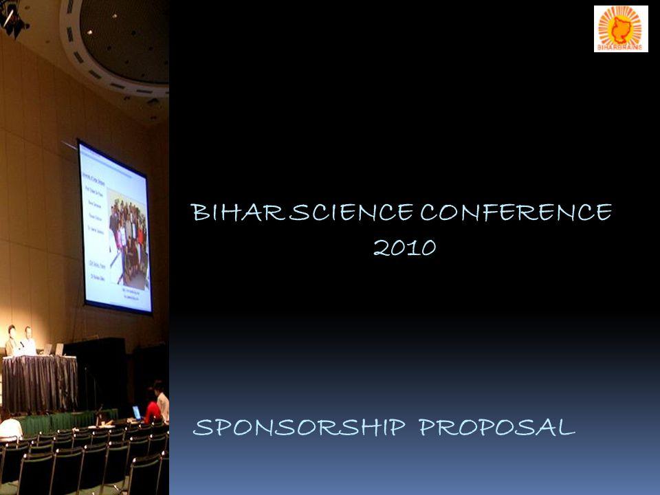 BIHAR SCIENCE CONFERENCE 2010 SPONSORSHIP PROPOSAL