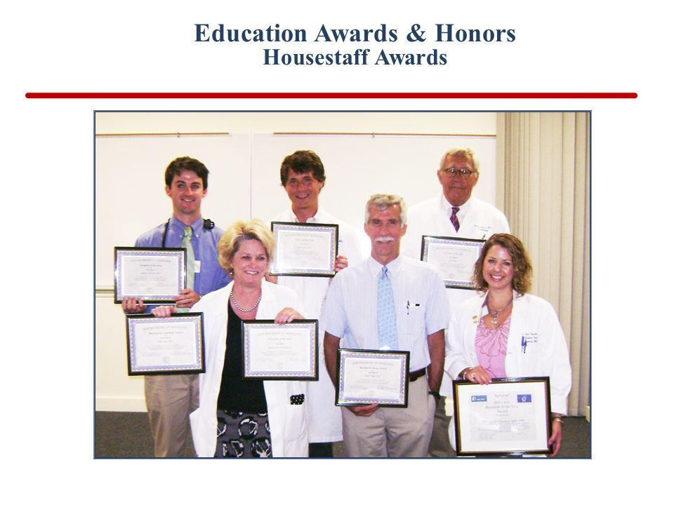 Education Awards & Honors Housestaff Awards