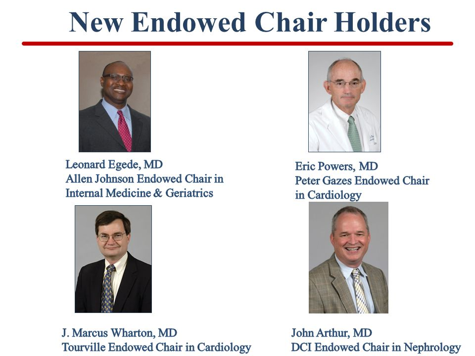 New Endowed Chair Holders