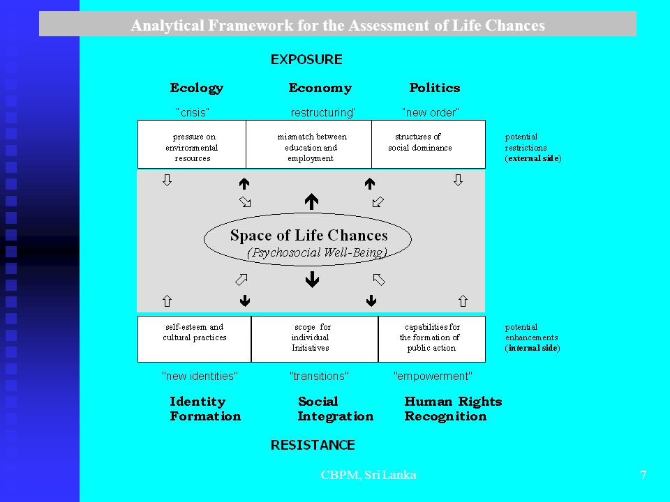 CBPM, Sri Lanka7 Analytical Framework for the Assessment of Life Chances